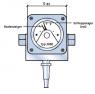 Differenzdruckanzeiger 2000 (Ausfuehrung P-Anschluss unten, reedkontakt 2)