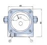 Differenzdruckanzeiger 2000 (Ausfuehrung P-Anschluss unten, reedkontakt 4)