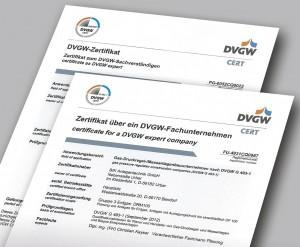 DVGW-Zertifikate BIK